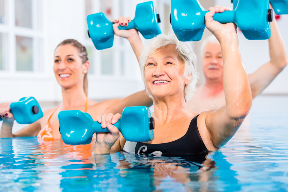 Hidroginástica para idosos Aquafisio